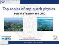 E.Shabalina -- DESY seminars - 25-26 Oct 2011 - Physics Seminar ...
