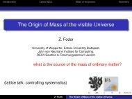 The Origin of Mass of the visible Universe - Physics Seminar - Desy