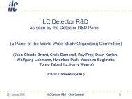 ILC Detector R&D - Physics Seminar - Desy