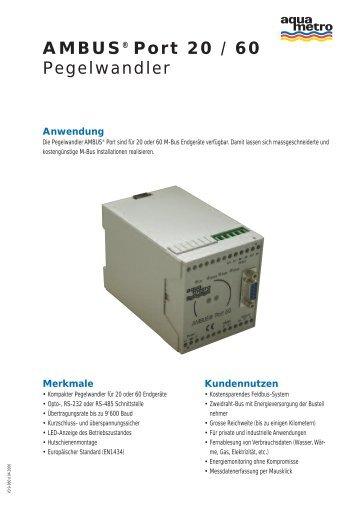 AMBUS® Port 20 / 60 Pegelwandler - Aquametro AG