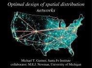 Optimal design of spatial distribution networks
