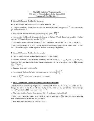Homework 3 - University of California, Davis