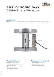 AMFLO® SONIC Dryx Débitmètre à Ultrasons - Aquametro AG