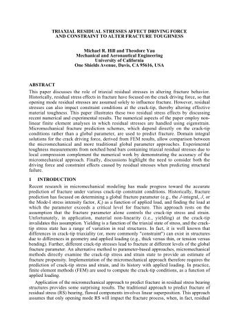 Triaxial residual stresses affect driving force and constraint to alter ...