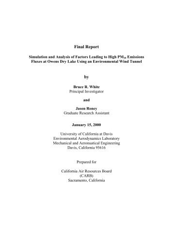 Final Report by - Department of Mechanical and Aerospace ...