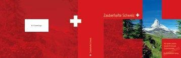 Zauberhafte Schweiz individualisiert für Firmenkunden