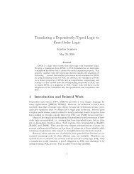 Translating a Dependently-Typed Logic to First-Order Logic - Kwarc