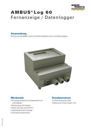 AMBUS® Log 60 Fernanzeige / Datenlogger - Aquametro AG
