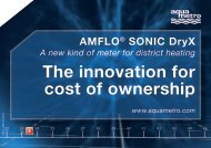 AMFLO® SONIC Dryx A new kind of meter for ... - Aquametro AG