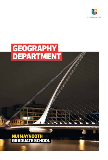 department postgraduate brochure - Department of Geography | NUI ...