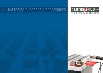 ALL BATTERIES, CHARGERS & ACCESSORIES - Battery Supplies