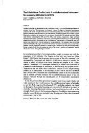 Canadian Journal of Behavioural Science - Gary Reker's Website