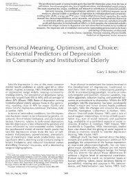 The Gerontologist - Gary Reker's Website