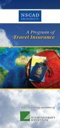 Travel Insurance brochure - Nova Scotia College of Art and Design