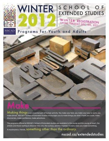 WINTEr - Nova Scotia College of Art and Design