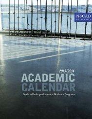 2013/2014 academic calendar - Nova Scotia College of Art and ...