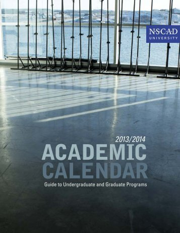 2013/2014 academic calendar - Nova Scotia College of Art and ...