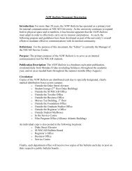 320-001 NOW Bulletin Document Description