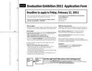 Graduation Exhibition 2011 Application Form - Nova Scotia College ...
