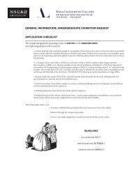 undergraduate exhibition request - Nova Scotia College of Art and ...