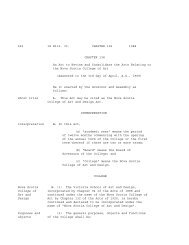 Act of NSCAD - Nova Scotia College of Art and Design