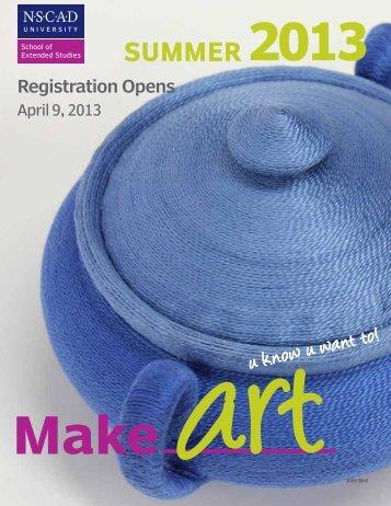 summer 2013 - Nova Scotia College of Art and Design