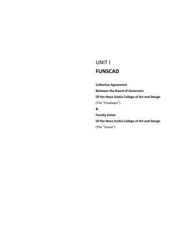 FUNSCAD Unit 1 - Nova Scotia College of Art and Design