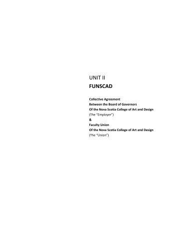 FUNSCAD Unit 2 - Nova Scotia College of Art and Design