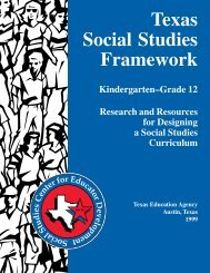 Texas Social Studies Framework - Department of Geography ...