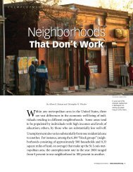 Neighborhoods that Don't Work