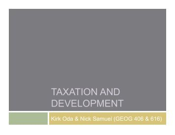 TAXATION AND DEVELOPMENT