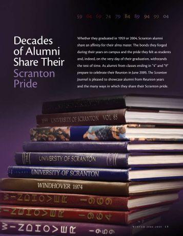 decades of Alumni Share their Scranton Pride - The University of ...