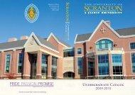 UnDERGRADuATE CATALOG - The University of Scranton