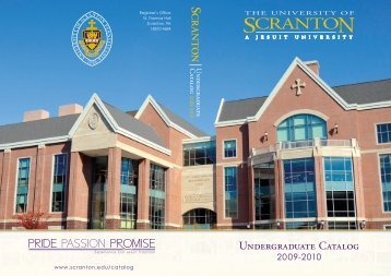 UnDERGRADuATE CATALOG - The University of Scranton