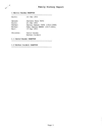 register report for frederick house crego jones family history