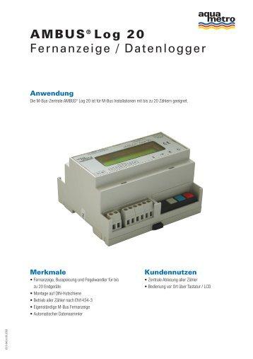 AMBUS® Log 20 Fernanzeige / Datenlogger - Aquametro AG