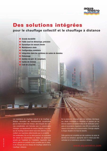 Des solutions intégrées pour le chauffage collectif ... - Aquametro AG