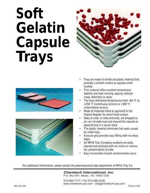 Soft Gelatin Capsule Drying Tray Brochure - Chemtech International