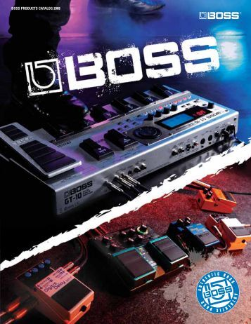 BOSS PRODUCTS CATALOG 2008 - Roland