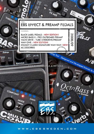 EBS Pedal Catalog 2008/2009 (2.2 MB)