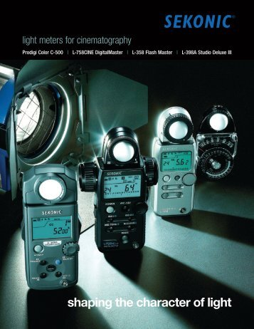light meters for cinematography - Sekonic