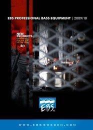 EBS PROFESSIONAL BASS EQUIPMENT   2009/10