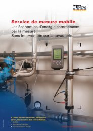 Service de mesure mobile - Aquametro AG