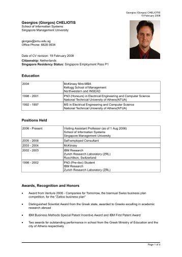 Georgios (Giorgos) - Singapore Management University