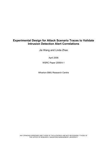 Experimental Design for Attack Scenario Traces to Validate Intrusion ...