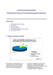 Wettbewerbsvorteile durch Qualitätsmanagementsysteme