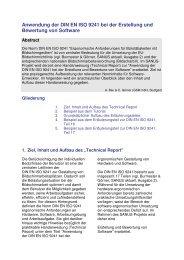 Anwendung der DIN EN ISO 9241 bei der Erstellung und Bewertung ...