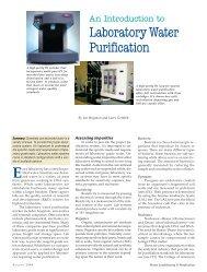 Laboratory Water Purification
