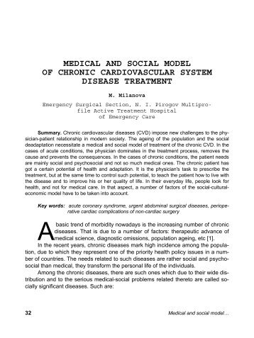 medical and social model of chronic cardiovascular system disease ...