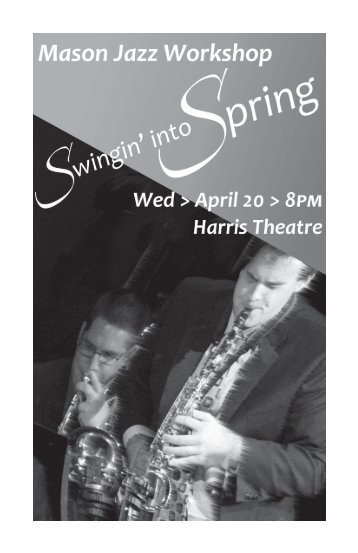 Jazz Workshop Concert - George Mason University School of Music